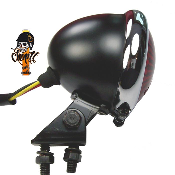 schwarzes led motorrad r cklicht bremslicht bates stye mit. Black Bedroom Furniture Sets. Home Design Ideas