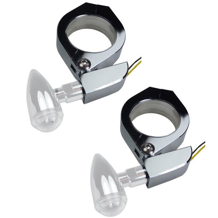 Suzuki Blinkerhalter für Gabelholme 49mm Blinkerhalterung Blinker Halter