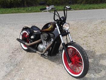 Stahlfender Heckfender 180 MM  für Custom Umbauten Bobber Chopper Custombikes Auto & Motorrad: Teile Motorrad-Tuning & -Styling