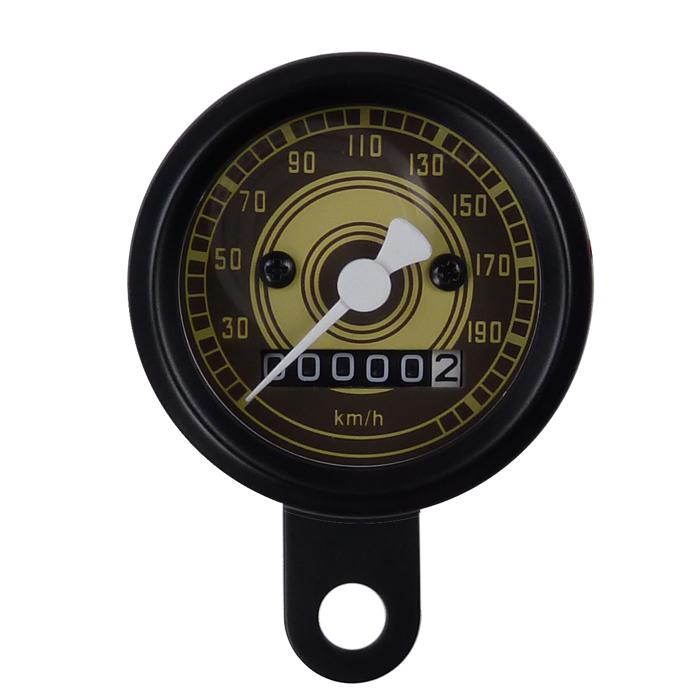 mini tachometer speedometer 48 mm motorradtacho mit. Black Bedroom Furniture Sets. Home Design Ideas